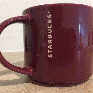 2013 Burgundy Starbucks Coffee Mug 14 oz